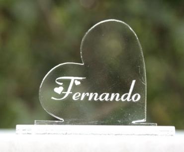 marque place personnalisé coeur 1