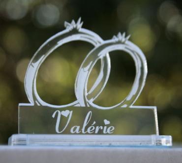 marque place personnalisé pour mariage : alliance 1