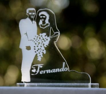 marque place personnalisé pour mariage : mariés 1
