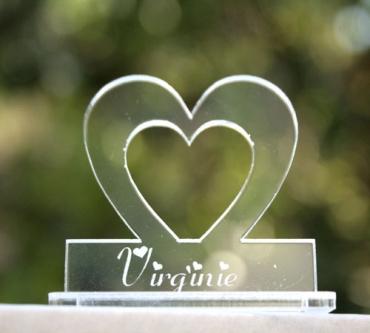 marque place personnalisé : coeur 2