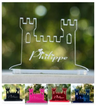 marque place gravé et personnalisé  : chateau
