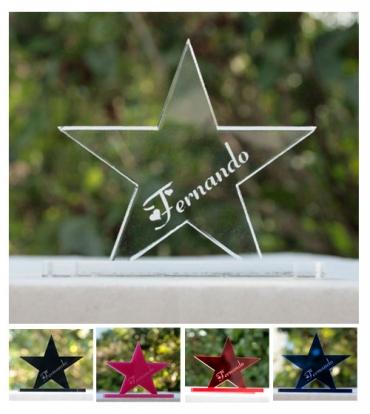 marque place gravé et personnalisé : étoile