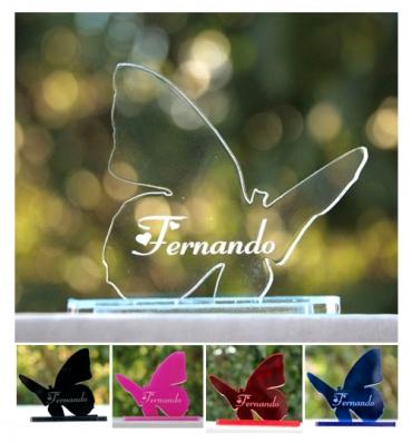 Marque place personnalisé et gravé : papillon 2