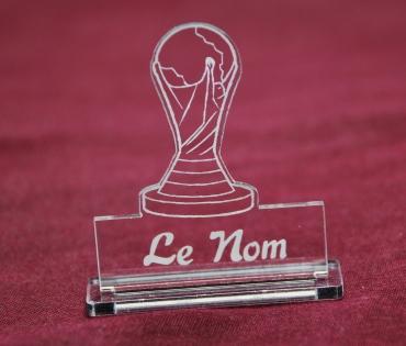 marque place gravé et personnalisé : coupe du monde de football