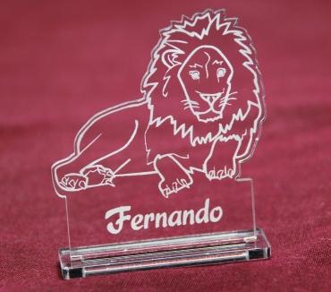 marque place gravé et personnalisé : Lion