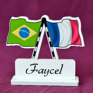 marque place personnalisé Brésil & France
