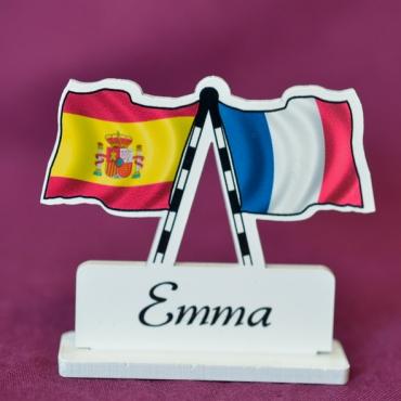 marque place personnalisé Espagne & France