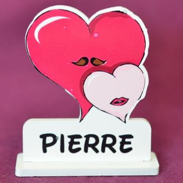 marque place couleur monsieur et madame coeur