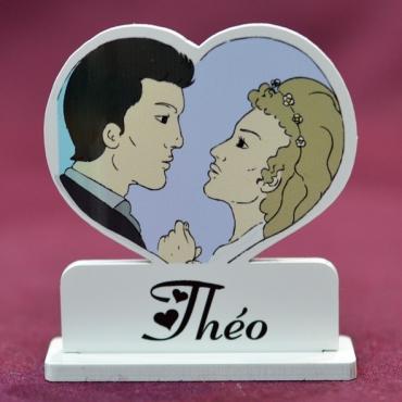 marque place couleur Couple romantique
