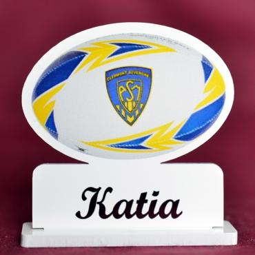 marque place couleur ballon de rugby Clermont
