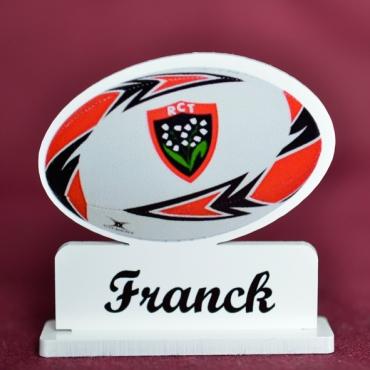 marque place couleur ballon de rugby Toulon
