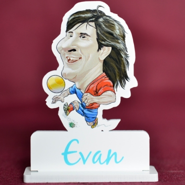 marque place couleur caricature Lionel Messi