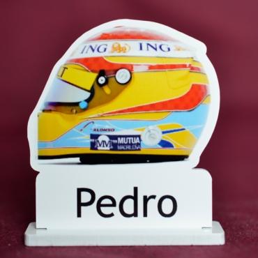 marque place couleur casque de formule 1 Alonso