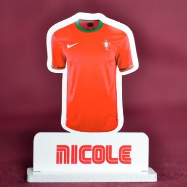 marque place couleur maillot de foot du Portugal