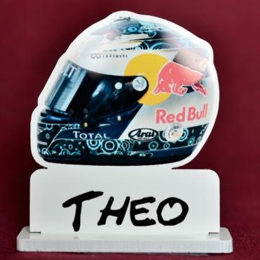 marque place couleur casque de formule 1 Vettel