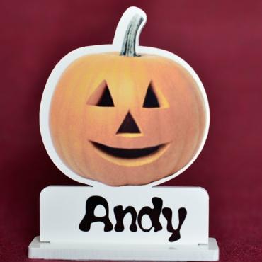 marque place couleur citrouille Halloween