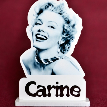 marque place couleur Marylin Monroe
