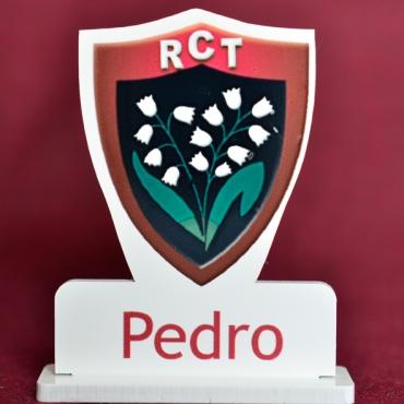 marque place couleur rugby Toulon