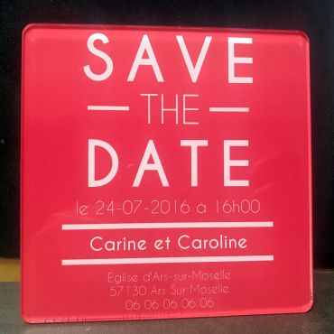 Faire part de mariage Save The Date en couleur