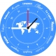 horloge originale gravee monde